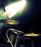 鼓和音乐会光 库存图片