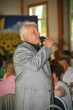 在阶段,作曲家歌曲作者,歌手,艺术大师亚历山大莫罗佐夫 库存图片