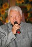 在阶段,作曲家歌曲作者,歌手,艺术大师亚历山大莫罗佐夫 免版税库存图片
