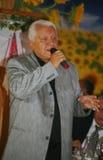 在阶段,作曲家歌曲作者,歌手,艺术大师亚历山大莫罗佐夫 免版税库存照片