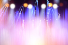 在阶段,音乐会照明设备摘要的被弄脏的光  库存图片