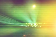 在阶段,音乐会的抽象图象的被弄脏的光 库存图片