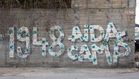 在阿伊达难民营的街道画 免版税库存图片