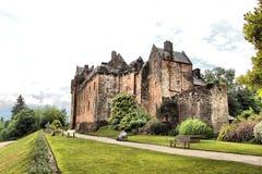 在阿伦岛的Brodick城堡 免版税库存照片