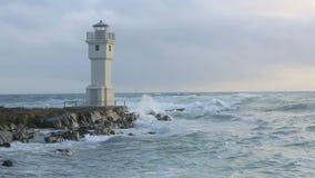 在阿克拉内斯,冰岛港的灯塔  影视素材