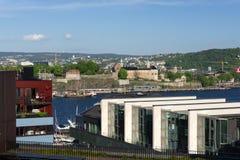 在阿克什胡斯的挪威宪法天 库存图片