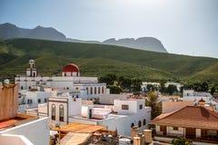 在阿加埃特市的看法在加那利群岛 图库摄影