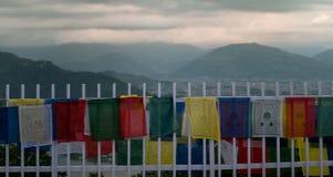 在阿南达小山顶的世界和平塔在博克拉 库存图片