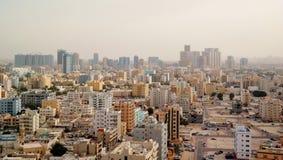 在阿吉曼阿拉伯联合酋长国的全景 免版税库存照片