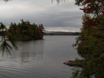 在阿地伦达山脉001的秋天 库存照片