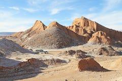 在阿塔卡马沙漠,智利的月亮谷 免版税库存照片