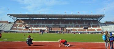 在阿姆斯特丹奥林匹克体育场里面 库存照片