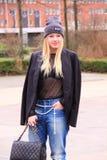 在阿姆斯特丹街道的时尚  库存图片