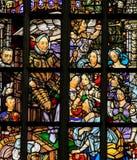 在阿姆斯特丹-威廉van Oranje的彩色玻璃 免版税库存照片