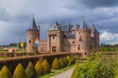 在阿姆斯特丹-荷兰附近的Muiderslot城堡 库存图片