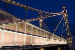 在阿尔伯特桥梁伦敦的收费站 库存图片