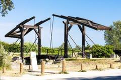 在阿尔勒附近的梵高桥梁 免版税库存照片