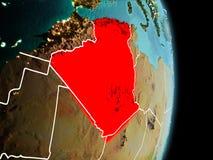 在阿尔及利亚的早晨地球上 皇族释放例证