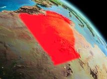 在阿尔及利亚的早晨地球上 向量例证