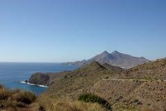 在阿尔梅里雅附近的海景 库存图片