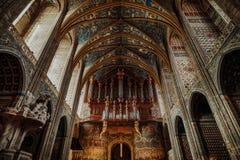 在阿尔比里面大教堂  库存图片
