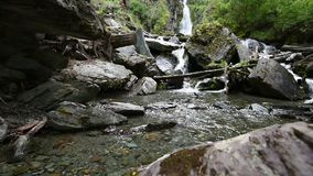 在阿尔泰山的瀑布 影视素材