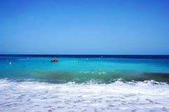 在阿尔特阿海湾附近的海滩 免版税图库摄影