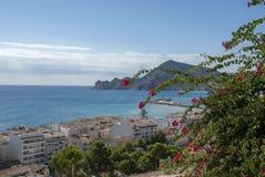 在阿尔特阿,科斯塔布朗卡-西班牙的看法 库存照片