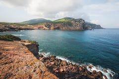 在阿尔盖罗,撒丁岛,意大利附近的品柱卡奇亚 库存照片