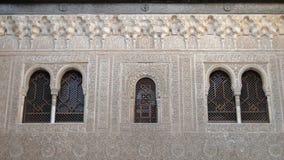 在阿尔罕布拉宫,格拉纳达,西班牙围住雕刻 免版税库存照片