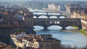 在阿尔诺河的桥梁在佛罗伦萨 影视素材