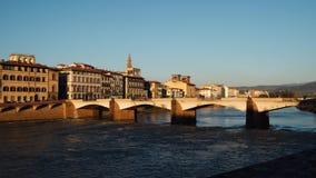 在阿尔诺河的桥梁在佛罗伦萨 股票录像