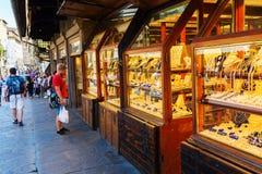 在阿尔诺河的Ponte Vecchio在佛罗伦萨 免版税库存图片