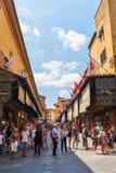在阿尔诺河的Ponte Vecchio在佛罗伦萨 库存照片