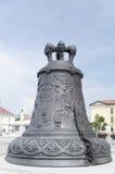 在阿尔巴尤利亚,罗马尼亚的古铜色响铃 免版税库存照片