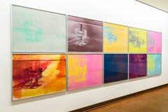 在阿尔贝蒂娜博物馆博物馆的安迪・沃荷绘画在维也纳 免版税库存图片