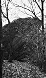 在阿巴拉契亚足迹的干草岩石 免版税图库摄影