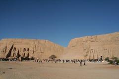在阿布格莱布Simble的Rameses和Nefertari寺庙 免版税库存图片