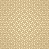 在阿拉伯样式的传染媒介无缝的样式 金黄几何花卉纹理 向量例证