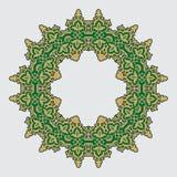在阿拉伯样式的圆样式 库存照片
