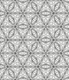 在阿拉伯样式的无缝的几何线样式,种族装饰品 库存图片
