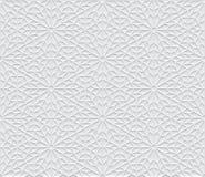 在阿拉伯样式的灰色轻的几何样式 免版税库存照片