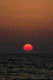 在阿拉伯海的日落 免版税库存图片