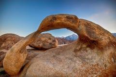 在阿拉巴马小山的Mobius曲拱,加利福尼亚 库存照片