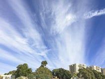 在阿拉德的冬天云彩内盖夫的在以色列 库存图片