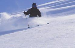 在阿拉斯加的Chugach山的Heli滑雪 免版税库存照片
