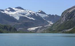 在阿拉斯加的Wilds的遥远的冰川 库存照片