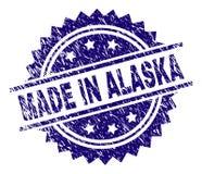 在阿拉斯加邮票封印做的被抓的织地不很细 向量例证