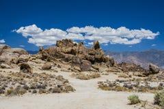 在阿拉巴马小山的河马岩石,内华达山 免版税图库摄影