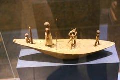 在阿斯旺博物馆-埃及的古老雕象 库存图片